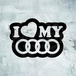 "Lipdukas ""I Love My Audi"""
